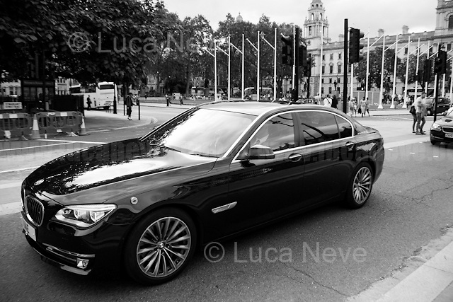 """Ambassador car going to the Houses of Parliament.<br /> <br /> London, March-July 2016. Reporting the EU Referendum 2016 (Campaign, result and outcomes) observed through the eyes (and the lenses) of an Italian freelance photojournalist (UK and IFJ Press Cards holder) based in the British Capital with no """"press accreditation"""" and no timetable of the main political parties' events in support of the RemaIN Campaign or the Leave the EU Campaign.<br /> On the 23rd of June 2016 the British people voted in the EU Referendum... (Please find the caption on PDF at the beginning of the Reportage).<br /> <br /> For more information about the result please click here: http://www.bbc.co.uk/news/politics/eu_referendum/results"""