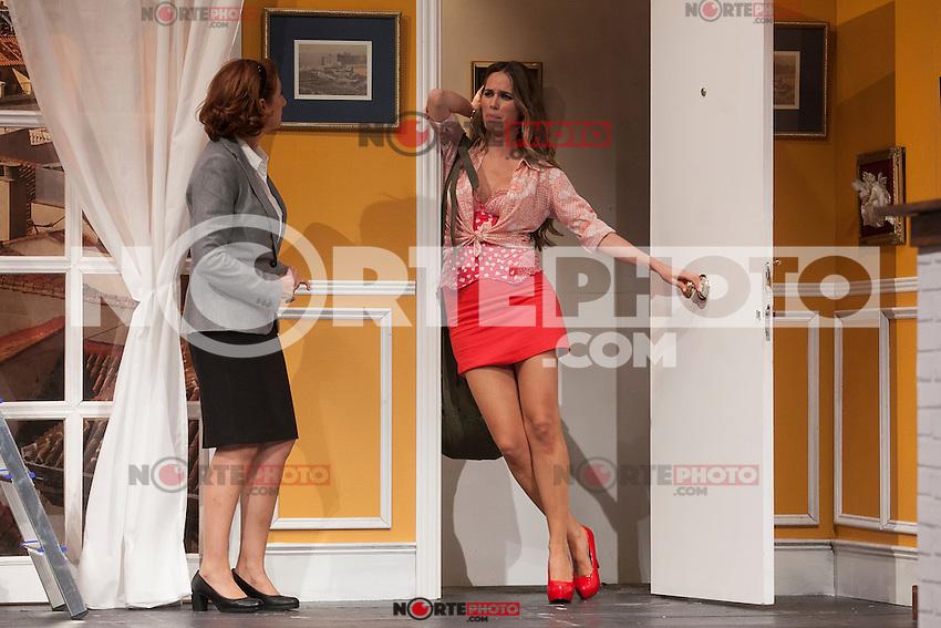Actresses Vanesa Romero and Esperanza Elipein perform `El Clan de las Divorciadas´ theater play in Madrid, Spain. August 19, 2015. (ALTERPHOTOS/Victor Blanco)
