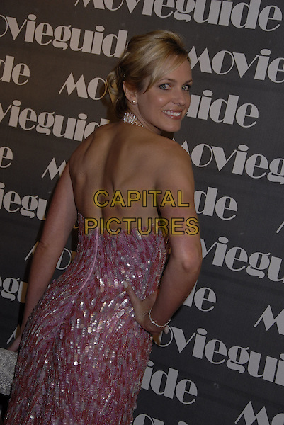 ARIANNE ZUCKER.The 15th Annual Movieguide Faith and Values Awards held at the Beverly Wilshire Hotel, Beverly Hills, California, USA..February 20th, 2007.half length dress looking over shoulder pink halterneck jewel encrusted.CAP/ADM/GB.©Gary Boas/AdMedia/Capital Pictures