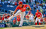 10 July 2011: Washington Nationals pitcher Drew Storen closes out a game against the Colorado Rockies at Nationals Park in Washington, District of Columbia. The Nationals shut out the visiting Rockies 2-0 salvaging the last game their 3-game series at home prior to the All-Star break. Mandatory Credit: Ed Wolfstein Photo