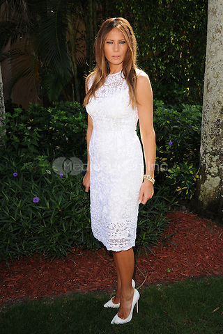 PALM BEACH FL - JANUARY 4:  Melania Trump attends The Trump Invitational Grand Prix at Club Mar-a-Lago on January 4, 2015 in Miami, FL Florida. Credit: mpi04/MediaPunch
