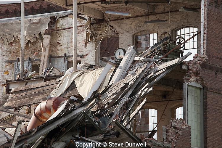 Chicopee Manufacturing mill, aka Uniroyal, aka Facemate, demolition, Chicopee, MA