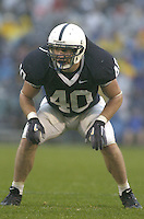 02 September 2006:  Penn State LB Dan Connor (40) had 13 tackles against Akron.  The Penn State Nittany Lions defeated the Akron Zips 34-16 September 2, 2006 at Beaver Stadium in State College, PA..