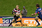 Baden Kerr runs in for the Steelers final try. Mitre 10 Cup game between Counties Manukau Steelers and Tasman Mako's, played at ECOLight Stadium Pukekohe on Saturday October 14th 2017. Counties Manukau won the game 52 - 30 after trailing 22 - 19 at halftime. <br /> Photo by Richard Spranger.