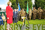 President Mary McAleese pauses for a moment after she laid a wreath at the memorial to those who served in the First World War, in Killarney on Thursday.
