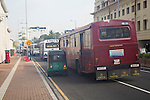 Buses and traffic in city centre of Colombo, Sri Lanka, Asia
