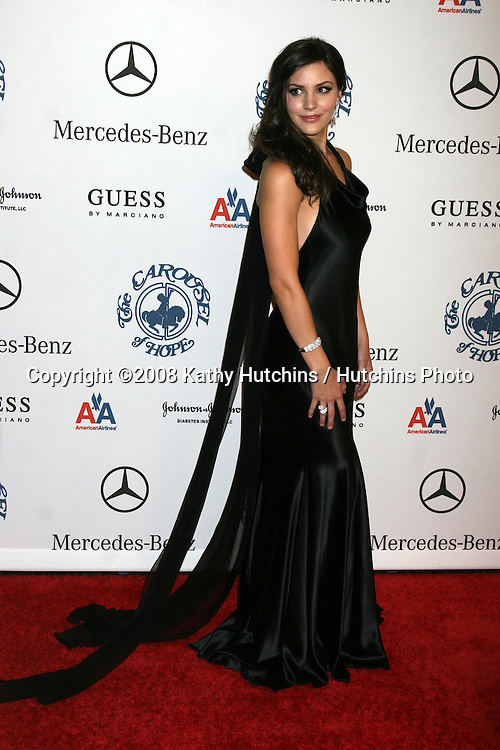 Katharine McPhee  arriving to the Carousel of Hope Ball at the Bevelry Hilton Hotel, in Beverly Hills, CA  on.October 25, 2008.©2008 Kathy Hutchins / Hutchins Photo...                .