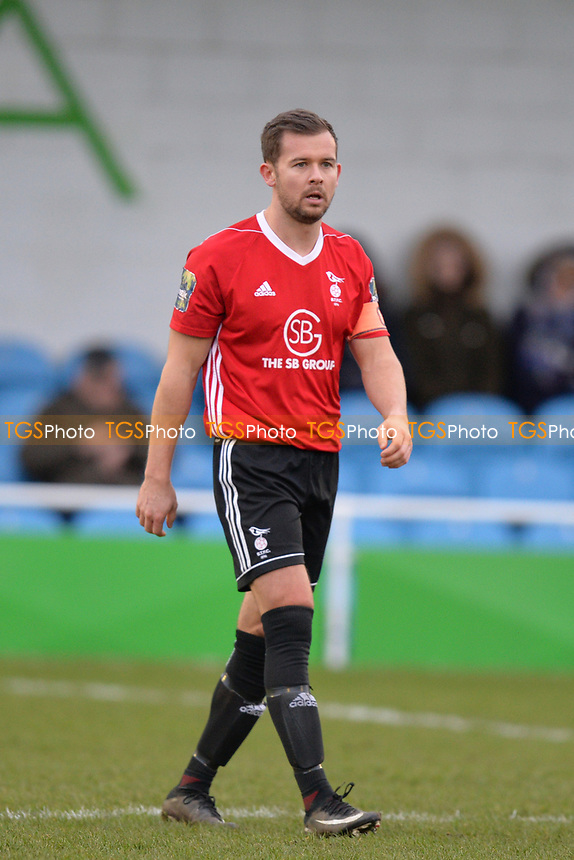 David Hancock of Bracknell Town during Waltham Abbey vs Bracknell Town, Bostik League South Central Division Football at Capershotts on 9th February 2019