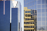 Reflections in Glass and Steel Office Buildings London Ontario Canada