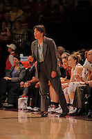 STANFORD, CA - JANUARY 10:  Head coach Tara VanDerveer of the Stanford Cardinal during Stanford's 102-53 win against the Washington State Cougars on January 10, 2009 at Maples Pavilion in Stanford, California.
