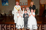 Pupils from Ballincrossig NS, Ballyduff who received their first communion in St. Peter & st Paul's Church, Ballyduff on Saturday last