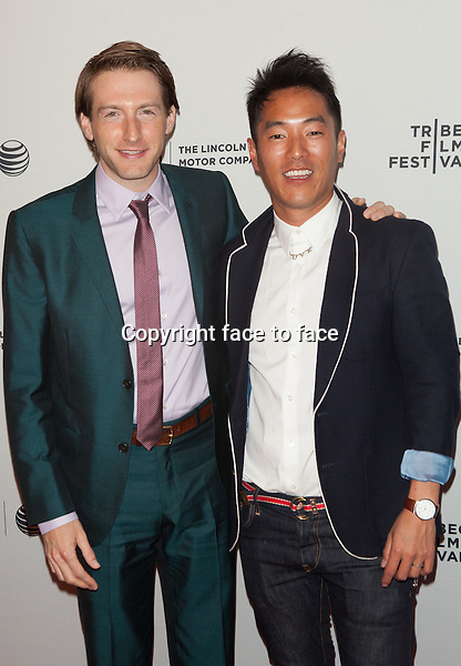 NEW YORK, NY - APRIL 24: Fran Kranz and Leonardo Nam attend the premiere of 'Murder of a Cat' during the 2014 Tribeca Film Festival at SVA Theater on April 24, 2014 in New York City. <br />