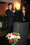 LOS ANGELES - OCT 24: Jonathan Yang, Mag. Andreas Lins at the Austrian National Day Celebration in the Residence of the Consul on October 24, 2013 in Los Angeles, California
