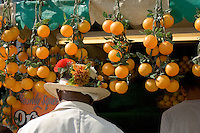 Camden lock - London. Orange Juice stall