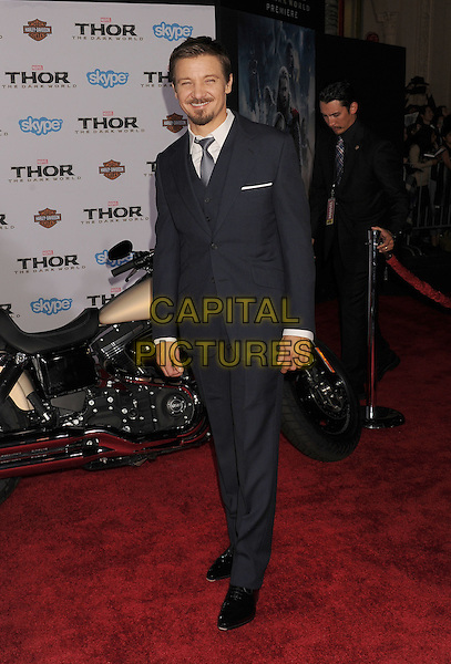 HOLLYWOOD, CA - NOVEMBER 04: Jeremy Renner at the Los Angeles Premiere 'Thor: The Dark World' at the El Capitan Theatre on November 4, 2013 in Hollywood, California, USA.<br /> CAP/ROT/TM<br /> &copy;Tony Michaels/Roth Stock/Capital Pictures