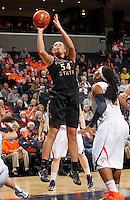 Florida State Seminoles center Cierra Bravard (54) shoots the ball during the game against Virginia Jan. 12, 2012 in Charlottesville, Va.  Virginia defeated Florida State 62-52.