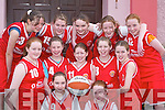Cougars team who played in the Martha Boyle Basketball Tournament in Currow Community Centre last Sunday. Front l-r: Karina OLeary and Chloe ODoherty. Middle row l-r: Ellen Buckley, Grainne Devane, Claire Tangney, Catriona Davis and Fiona Lacey. Back row l-r: Shannon Doherty, Emma Cronin, Kate Looney, Roisin Lucey and Catriona OSullivan..