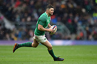 Rob Kearney of Ireland in possession. Natwest 6 Nations match between England and Ireland on March 17, 2018 at Twickenham Stadium in London, England. Photo by: Patrick Khachfe / Onside Images