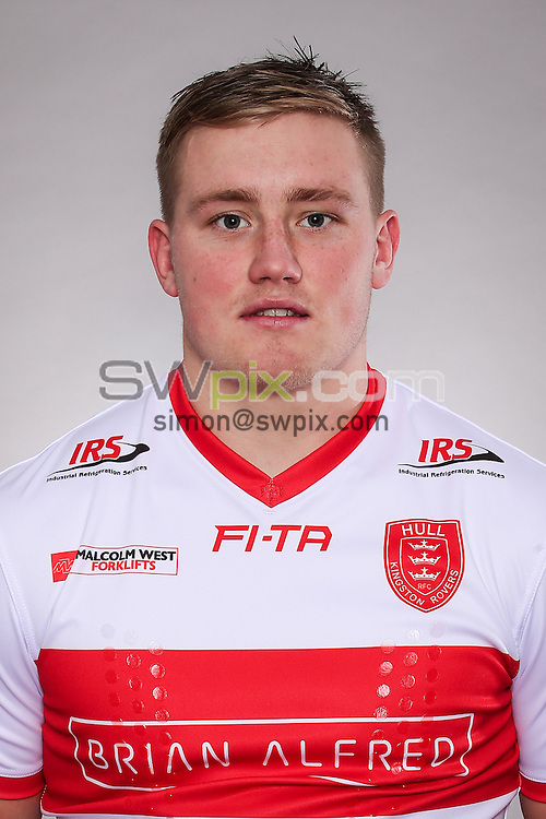 Picture by Alex Whitehead/SWpix.com - 19/01/2016 - Rugby League - 2016 First Utility Super League - Hull KR Media Day - KC Lightstream Stadium, Hull, England - James Greenwood
