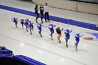SCHAATSEN: HEERENVEEN: 18-09-2014, IJsstadion Thialf, Topsporttraining, Team NewBalance, ©foto Martin de Jong