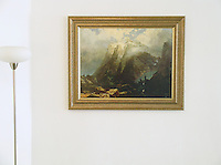 Bierstadt: &quot;The Wetterhorn, Switzerland&quot; Image Dims:<br />