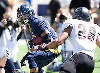 Keenan Allen of California runs the ball after catching a pass during the game against Southern Utah at Memorial Stadium in Berkeley, California on September 8th, 2012.   California Golden Bears defeated Southern Utah, 50-31.