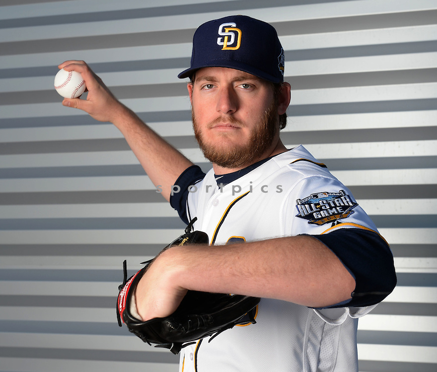 San Diego Padres Brandon Maurer (37) during photo day on February 26, 2016 in Peoria, AZ.