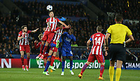 Atletico Madrid's Jose Gimenez<br /> <br /> Photographer Stephen White/CameraSport<br /> <br /> UEFA Champions League Quarter Final Second Leg - Leicester City v Atletico Madrid - Tuesday 18th April 2017 - King Power Stadium - Leicester <br />  <br /> World Copyright &copy; 2017 CameraSport. All rights reserved. 43 Linden Ave. Countesthorpe. Leicester. England. LE8 5PG - Tel: +44 (0) 116 277 4147 - admin@camerasport.com - www.camerasport.com