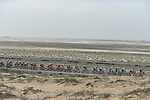 The peloton in the desert during Stage 2 The Ras Al Khaimah Stage of the Dubai Tour 2018 the Dubai Tour&rsquo;s 5th edition, running 190km from Skydive Dubai to Ras Al Khaimah, Dubai, United Arab Emirates. 7th February 2018.<br /> Picture: LaPresse/Fabio Ferrari | Cyclefile<br /> <br /> <br /> All photos usage must carry mandatory copyright credit (&copy; Cyclefile | LaPresse/Fabio Ferrari)