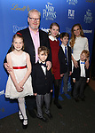 Jim Gaffigan with family attends a screening of 'Mary Poppins Returns' hosted by The Cinema Society at SVA Theater on December 17, 2018 in New York City.