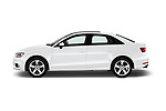 Car driver side profile view of a 2017 Audi A3  Premium  4 Door Sedan