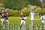 Jerome Flynn Milltown-Castlemaine in action against  Saint Brendans in the First Round of the Kerry Senior Football Championship at Milltown on Sunday.