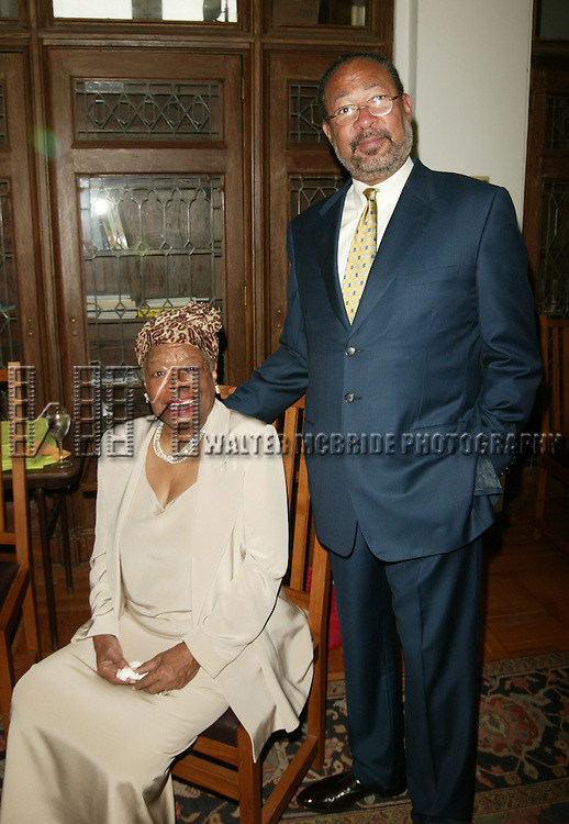 Dr. Maya Angelou and Richard Parsons attending The Abyssinian Development Corporation's (ADC) Tenth Annual Renaissance Day of Commitment Leadership Breakfast at City College in Harlem, New York City..June 15, 2004..© Walter McBride /