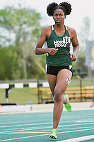 Victoria Junious of North Texas University competes in 1500 Meter final during Baylor Invitational track meet, Friday, April 03, 2015 in Waco, Tex. (Mo Khursheed/TFV Media via AP Images)