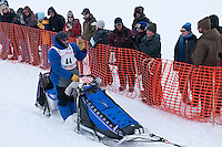 Musher # 44 John Baker at the Restart of the 2009 Iditarod in Willow Alaska