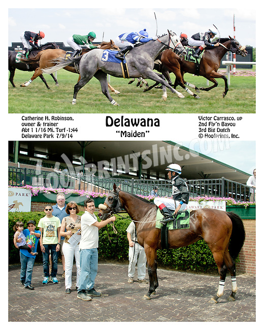 Delawana winning at Delaware Park on 7/9/14