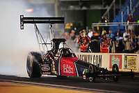 Jun. 29, 2012; Joliet, IL, USA: NHRA top fuel dragster driver Ike Maier during qualifying for the Route 66 Nationals at Route 66 Raceway. Mandatory Credit: Mark J. Rebilas-
