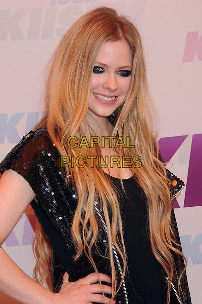 Avril Lavigne.at KIIS FM's Wango Tango 2013 held at The Home Depot Center, Carson, California, USA, 11th May 2013..arrivals half length smiling eyeliner black makeup .CAP/ADM/BP.©Byron Purvis/AdMedia/Capital Pictures