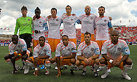 18 July 2009: Houston Dynamo starting eleven during action at BMO Field. Toronto FC tied Houston Dynamo to a 1-1 tie. .