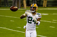 Green Bay Packers cornerback Quinten Rollins (24) during a National Football League game against the Chicago Bears on September 28, 2017 at Lambeau Field in Green Bay, Wisconsin. Green Bay defeated Chicago 35-14. (Brad Krause/Krause Sports Photography)
