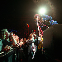 Aerosmith at the Delta Center. Daily Herald photographer Mark Lester below.