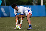 Minseong Chae of Korea scores a try during the Asia Rugby U20 Sevens 2017 at King's Park Sports Ground on August 4, 2017 in Hong Kong, China. Photo by Yu Chun Christopher Wong / Power Sport Images
