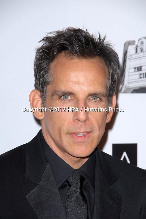 LOS ANGELES - NOV 15:  Ben Stiller arrives for the 26th American Cinematheque Award Honoring Ben Stiller at Beverly Hilton Hotel on November 15, 2012 in Beverly Hills, CA