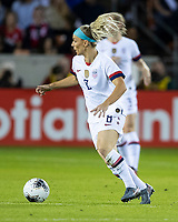 HOUSTON, TX - FEBRUARY 03: Julie Ertz #8 of the USA dribbles the ball during a game between Costa Rica and USWNT at BBVA Stadium on February 03, 2020 in Houston, Texas.