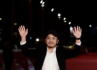 "Il regista giapponese Kazuya Shiraishi posa sul red carpet per la presentazione del suo film ""Birds Without Names"" durante a Festa del Cinema di Roma, 2 novembre 2017.<br /> Japanese director Kazuya Shiraishi poses on the red carpet to present his movie ""Birds Without Names"" during the international Rome Film Festival at Rome's Auditorium, November 2, 2017.<br /> UPDATE IMAGES PRESS/Isabella Bonotto"