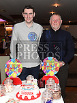 Darren Arnold celebrating his 21st birthday in Daly's of Donore with grandfather P.J. Myles. Photo:Colin Bell/pressphotos.ie