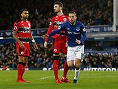 2nd December 2017, Goodison Park, Liverpool, England; EPL Premier League football, Everton versus Huddersfield Town; Gylfi Sigurdsson of Everton celebrates after scoring the first goal after 47 minutes