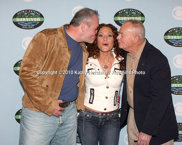 "Richard Hatch, Jerry Manthey,  & Rudy Boesch.arrivng at the ""Survivor"" 10 Year Anniverary Party .CBS Television CIty.Los Angeles, CA.January 9, 2010.©2010 Kathy Hutchins / Hutchins Photo...."