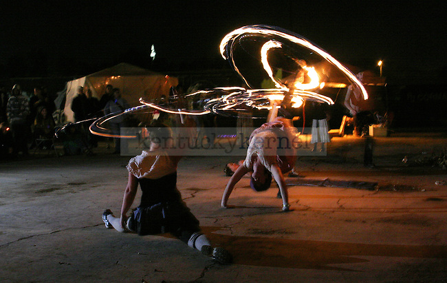 Sonya Blaydes and Eric Myers, of Passion Fire dance on Saturday night during the Boomslang Carnival. Photo by Benjamin Buker   Staff