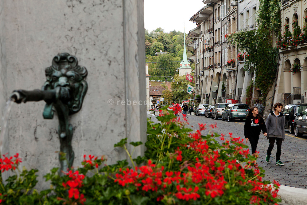 Justice Fountain, Gerechtigkeitsgasse, Bern, Switzerland, 27 August 2011